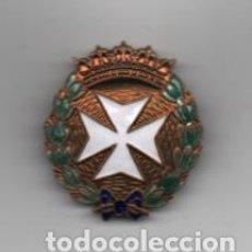 Militaria: INSIGNIA MILITAR DE PECHO- CRUZ Y LAYREL ESMALTADA.-SANIDAD MILITAR- MIDE: 4 X 3,50 C.M. VER FOTOS. Lote 203105705