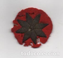 MILITAR -ESTRELLA DE 8 PUNTAS-BORDADA A MANO- DIAMETRO: 4 C.M. VER FOTOS (Militar - Guerra Civil Española)