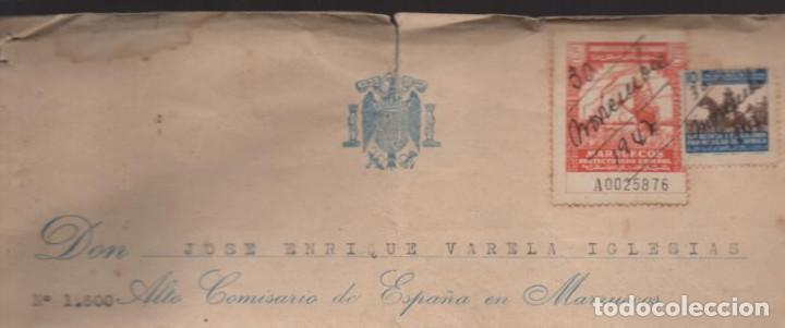 Militaria: MARRUECOS.- D. JOSE ENRIQUE VARELA IGLESIAS.- ALTO COMISARIADO EN MARRUECOS, VARIAS FIRMAS - Foto 2 - 203925303