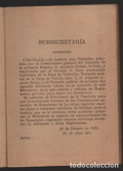 Militaria: SOMATENES ARMADOS DE ESPAÑA.- REGLAMENTO ORGANICO- 1925- VER FOTOS - Foto 5 - 204356826