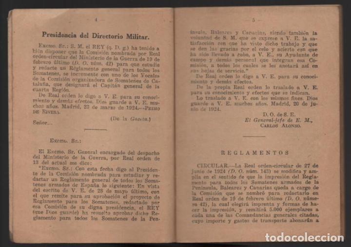 Militaria: SOMATENES ARMADOS DE ESPAÑA.- REGLAMENTO ORGANICO- 1925- VER FOTOS - Foto 6 - 204356826