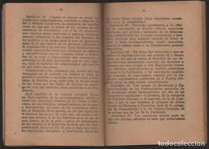 Militaria: SOMATENES ARMADOS DE ESPAÑA.- REGLAMENTO ORGANICO- 1925- VER FOTOS - Foto 7 - 204356826