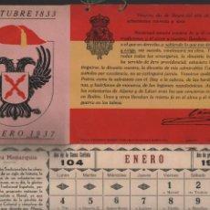 Militaria: SAN LUCAS-CADIZ- ALMANAQUE REQUETE- AÑO 1937.- ENERO A NOVIEMBRE-FALTA HOJA DE DICIEMBRE- VER FOTOS. Lote 204473128