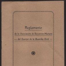 Militaria: REGLAMENTO DE LA ASC. SOCORROS MUTUOS-CUERPO GUARDIA CIVIL- AÑO 1941. VER FOTOS. Lote 205063798