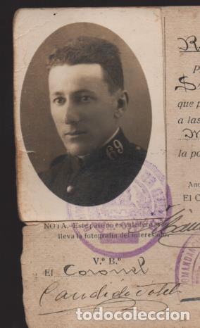 Militaria: CEUTA,- PASE A FAVOR.. -PLANA MAYOR- SERRALLO 69- AÑO 1927.- VER - Foto 2 - 205432257