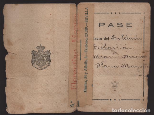 Militaria: CEUTA,- PASE A FAVOR.. -PLANA MAYOR- SERRALLO 69- AÑO 1927.- VER - Foto 3 - 205432257