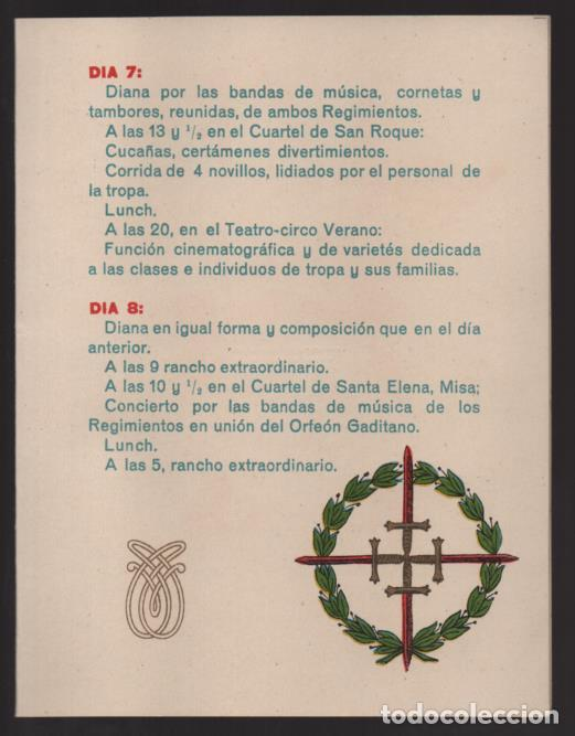 Militaria: PROGRAMA. REGIMIENTOS DE INFANTERIA PAVIA Nº 48 Y ALAVA Nº 56, 8 DICIEMBRE 1918.- VER FOTOS - Foto 2 - 205442975
