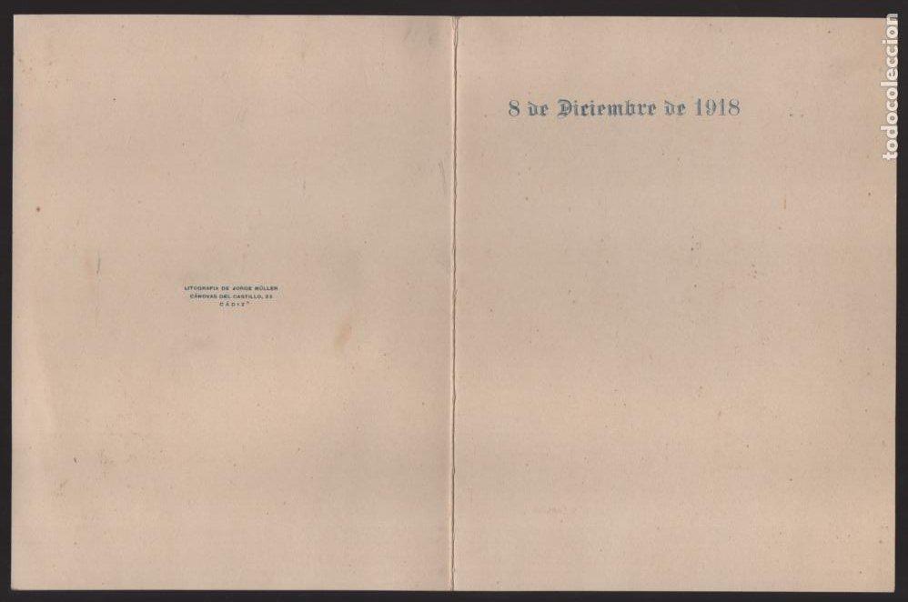 Militaria: PROGRAMA. REGIMIENTOS DE INFANTERIA PAVIA Nº 48 Y ALAVA Nº 56, 8 DICIEMBRE 1918.- VER FOTOS - Foto 3 - 205442975
