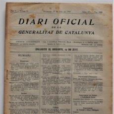 Militaria: DIARI OFICIAL DE LA GENERALITAT DE CATALUNYA - 20 JUNIO 1937 - EMPRESAS COLECTIVIZADAS, TERRASSA. Lote 205443531