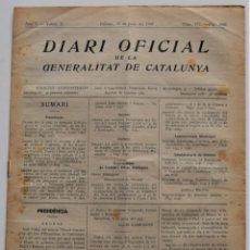 Militaria: DIARI OFICIAL DE LA GENERALITAT DE CATALUNYA - 21 JUNIO 1937 - BIBLIOTECA GIRONA, TERRASSA, TORTOSA. Lote 205444420