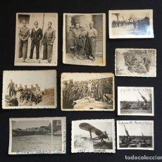 Militaria: LOTE DE 10 FOTOGRAFÍAS DE LA GUERRA CIVIL ESPAÑOLA, DEFENSA DE REUS, EL VENDRELL, ETC.. Lote 205647801