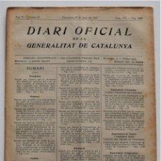 Militaria: DIARI OFICIAL DE LA GENERALITAT DE CATALUNYA - 25 JUNIO 1937 COLECTIVIZACIÓN EN MATARÓ, MANRESA.... Lote 205723283