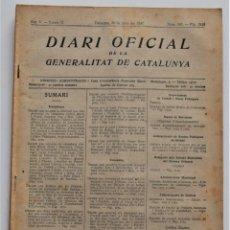 Militaria: DIARI OFICIAL GENERALITAT DE CATALUNYA, 30 JUNIO 1937, INDICE TRIMESTRE, BARCELONA COMITÉ PERMANENTE. Lote 206464393