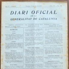 Militaria: DIARI OFICIAL GENERALITAT DE CATALUNYA, 1 JUNIO 1937 - SANT SADURNÍ D´ANOIA, EMPRESAS COLECTIVIZADAS. Lote 206470432