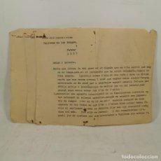 Militaria: LOTE 3 DOCUMENTOS - GUERRA CIVIL - VALLBONA DE LES MONGES (LLEIDA-LÉRIDA) MUY RAROS / TC-49.1. Lote 206536120