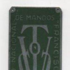 Militaria: CAMPAMENTO NACIONAL DE MANDOS--FRANCISCO FRANCO- MIDE:9 X 3 C.M. VER FOTOS. Lote 206581703