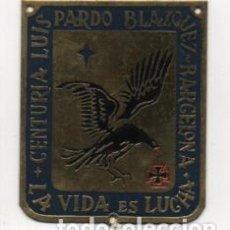 Militaria: BARCELONA- CENTURIA -LUIS PARDO BLAZQUEZ- LA VIDA ES LUCHA- MIDE: 6 X 5 C.M. VER FOTOS. Lote 206582333