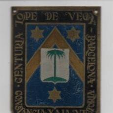 Militaria: BARCELONA- CENTURIA -LOPEZ DE VEGA- CONSTANCIA Y A LA VICTORIA- MIDE: 6 X 5 C.M. VER FOTOS. Lote 206582478