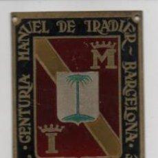 Militaria: BARCELONA- CENTURIA -MANUEL TRADIER- VICTORIA O MUERTE- MIDE: 6 X 5 C.M. VER FOTOS. Lote 206582576