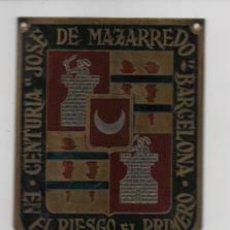 Militaria: BARCELONA- CENTURIA - JOSE DE MAZARREDO- EN EL RIESGO EL PRIMERO- MIDE: 6 X 5 C.M. VER FOTOS. Lote 206583366