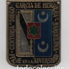 Militaria: BARCELONA- CENTURIA - DIEGO GARCIA DE HERRERA- FIRME EN LA ADVERSIDAD- MIDE: 6 X 5 C.M. VER FOTOS. Lote 206583468