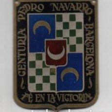 Militaria: BARCELONA- CENTURIA - PEDRO NAVARRO- FE EN LA VICTORIA- MIDE: 6 X 5 C.M. VER FOTOS. Lote 206583556