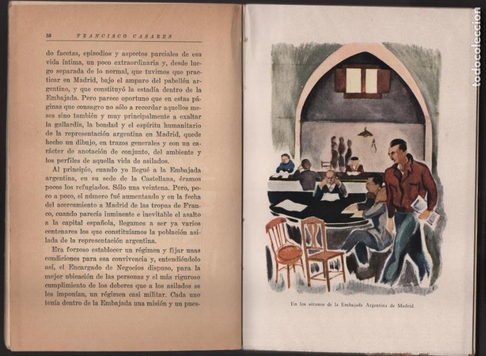 Militaria: RECUERDO DE UN ASILADO EMBAJADA ARGERTINA MADRID- AÑO 1937- 286 PAG. VER FOTOS - Foto 5 - 206583895