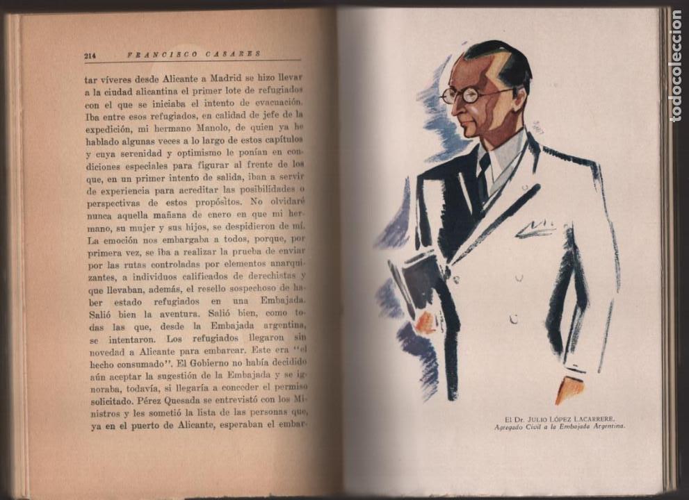 Militaria: RECUERDO DE UN ASILADO EMBAJADA ARGERTINA MADRID- AÑO 1937- 286 PAG. VER FOTOS - Foto 7 - 206583895