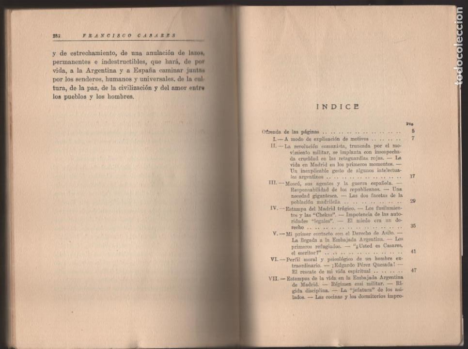 Militaria: RECUERDO DE UN ASILADO EMBAJADA ARGERTINA MADRID- AÑO 1937- 286 PAG. VER FOTOS - Foto 8 - 206583895