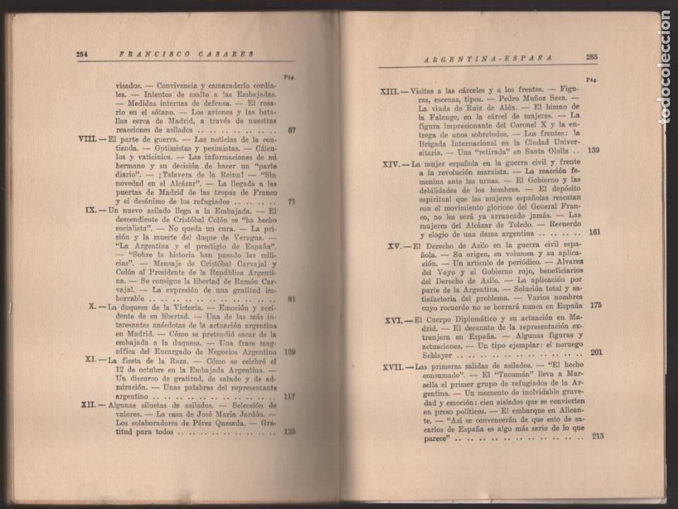 Militaria: RECUERDO DE UN ASILADO EMBAJADA ARGERTINA MADRID- AÑO 1937- 286 PAG. VER FOTOS - Foto 9 - 206583895