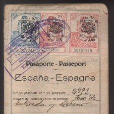 Militaria: PASAPORTE DUQUE DE ESTRADA Y MORENO- AÑO 1932 Y 33- VER FOTOS. Lote 206592318