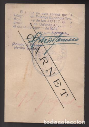 Militaria: BADAJOZ- CARNET -DEFENSA CIUDADANA- D.MANUEL SAAVEDRA MARTINEZ- JEFE SECRETARIO DE ACTA- 31-08-1936 - Foto 3 - 206592523