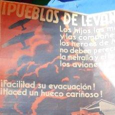 Militaria: CARTEL GUERRA CIVIL REPUBLICANO PUEBLOS DE LEVANTE. Lote 206876638