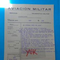 Militaria: BOMBARDEO COTAS Y APOYO PARA LA OCUPACION DEL ALTO DEL BUITRE - PALOMERA( VALENCIA ) - 12 JUNIO 1938. Lote 207256747