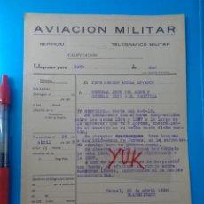 Militaria: BOMBARDO Y AMETRALLAMIENTO DEL ENEMIGO EN CARRETERA DE JORCAS (TERUE ) BOMBA PERDIDA - 26 ABRIL 1938. Lote 207258190