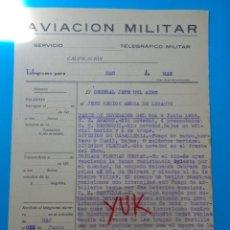 Militaria: PARTE DE NOVEDADES EN ESPAÑA 9 JUNIO 1938 (HERIDOS BAJAS PRISIONEROS) ARAGON NAVARRA FLECHAS NEGRAS. Lote 207258545