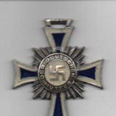 Militaria: CRUZ DE LA MADRE ALEMANA.- NAZI- PLATA- REVERSO: AÑO 1938- VER FOTOS. Lote 207342955