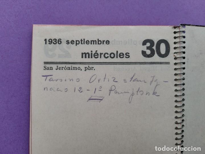 Militaria: AGENDA MANUSCRITA AÑO 1936 COMPRENDE DESDE JULIO A SEPTIEMBRE ILUSTRE SEÑOR - Foto 8 - 207514817