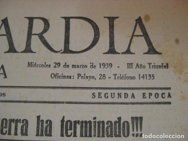 Militaria: LA VANGUARDIA 1939 - MADRID SE HA INCORPORADO A ESPAÑA - COMPLETA - Foto 3 - 207927586