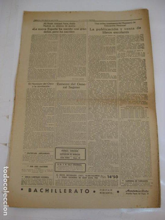 Militaria: LA VANGUARDIA 1939 - MADRID SE HA INCORPORADO A ESPAÑA - COMPLETA - Foto 5 - 207927586