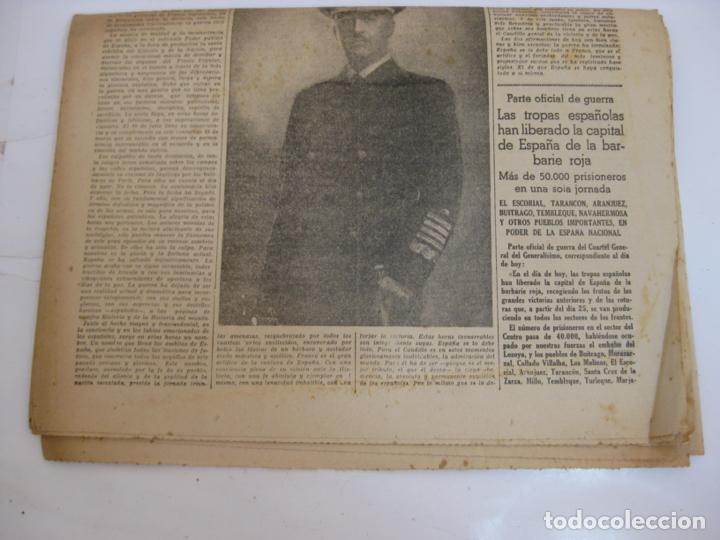 Militaria: LA VANGUARDIA 1939 - MADRID SE HA INCORPORADO A ESPAÑA - COMPLETA - Foto 6 - 207927586