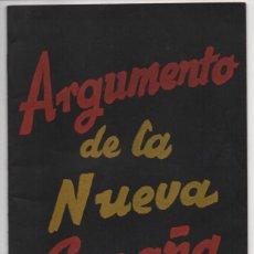 Militaria: BUENOS AIRES- LOS 26 PUNTOS DE FALANGE - AÑO 1937.- 20 PAG. VER FOTOS. Lote 208002528