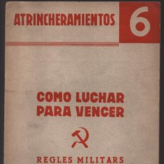 Militaria: CATALUNYA- EDITAT PEL COMITE MILITAR- P.S.U. U.G.T.- U.H.P. 16 PAG. VER FOTOS. Lote 208003465