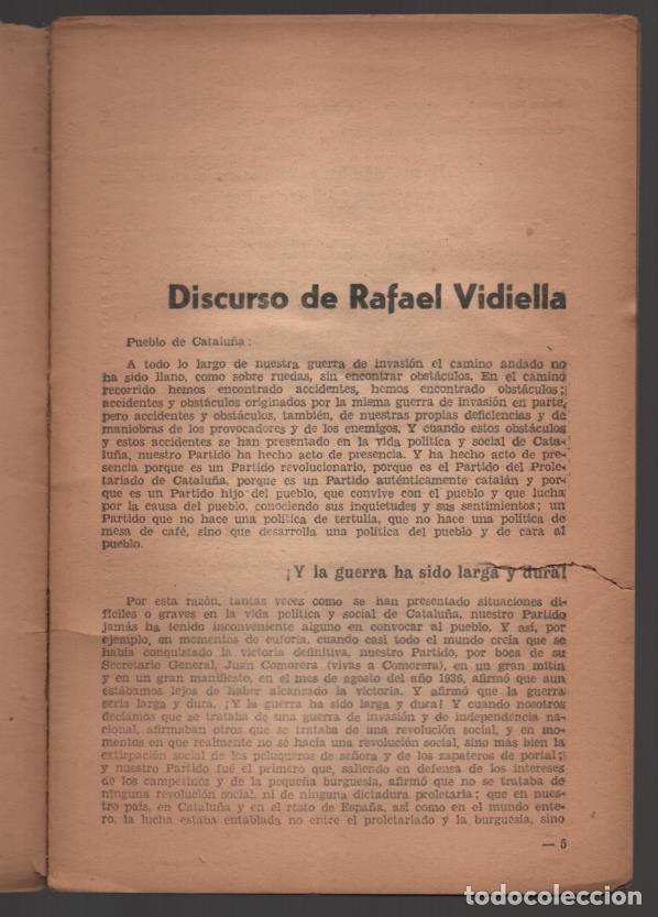 Militaria: EL P.S.U. ANTE LA SITUACION ACTUAL- OCTUBRE 1938,- PEQUEÑO CORTE COJE TODAS LAS HOJAS,- VER FOTO - Foto 4 - 208003895