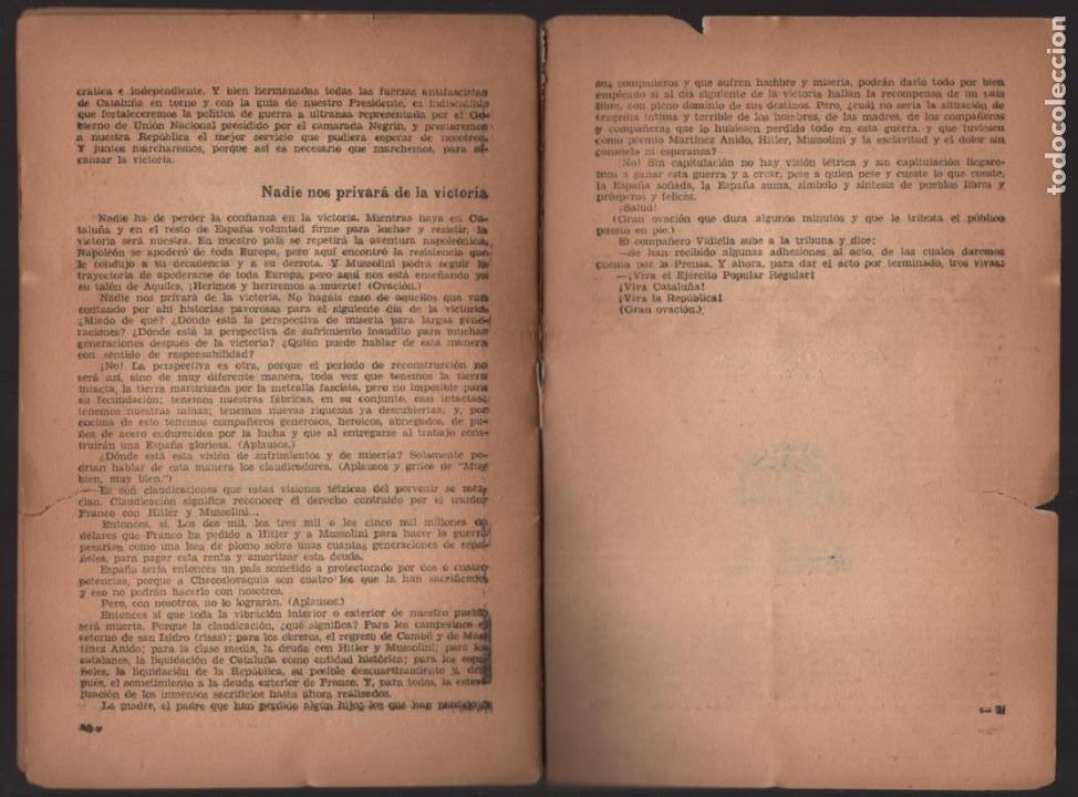Militaria: EL P.S.U. ANTE LA SITUACION ACTUAL- OCTUBRE 1938,- PEQUEÑO CORTE COJE TODAS LAS HOJAS,- VER FOTO - Foto 6 - 208003895