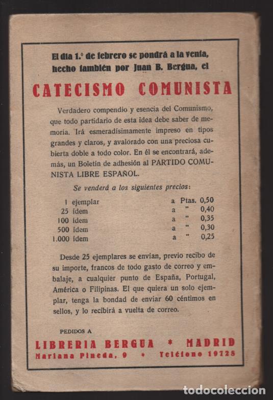 Militaria: P.C. LIBRE ESPAÑOL- -LA SALVACION ROJA- COMPLETO 210 PAG.- MAS BOLETIN ADHESION- VER FOTOS - Foto 2 - 208004135