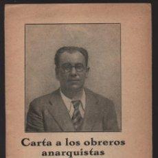 Militaria: CARTA A LOS OBREROS ANARQUISTAS- RAMON CASANELLAS.- MAYO 1933,- PAG. 15 - VER FOTOS. Lote 208004228