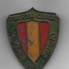 Militaria: INSIGNIA -VALVERDE DEL CAMINO-HUELVA- GUARDIA CIVICO- MIDE: 6,50 X 5 C.M. VER FOTOS. Lote 218432951