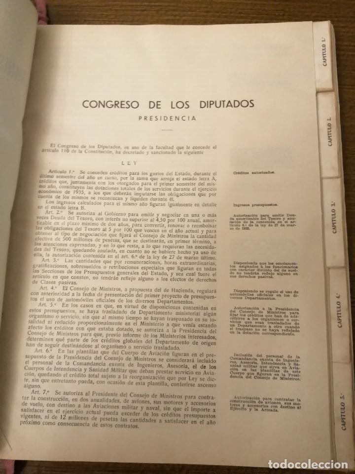 Militaria: LIBRO DE PRESUPUESTO-MINISTERIO INSTRUCCION PUBLICA Y BELLAS ARTES- AÑO 1935.- VER FOTOS - Foto 4 - 208121821