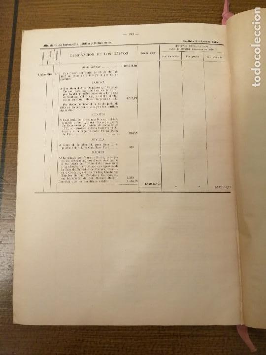 Militaria: LIBRO DE PRESUPUESTO-MINISTERIO INSTRUCCION PUBLICA Y BELLAS ARTES- AÑO 1935.- VER FOTOS - Foto 8 - 208121821